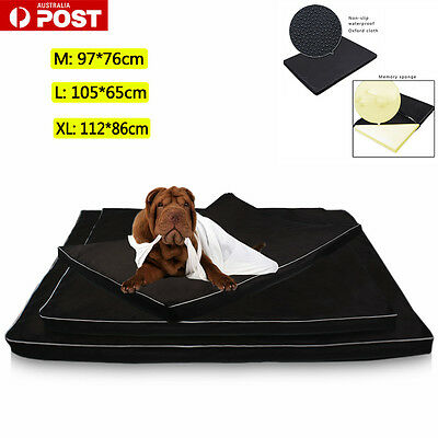 Pet Bed Deluxe Memory Foam Mattress Dog Cat Warm Pad Removable Mat Cushion Soft