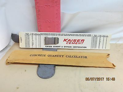 Concrete Calculator Slide Rule
