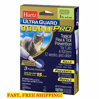 3 months HARTZ Ultra Guard Pro Topical Flea & Tick Prevention For CATS & Kittens