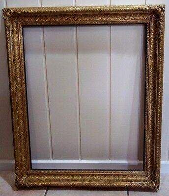 Large Ornate Victorian Plaster & Timber Picture Frame
