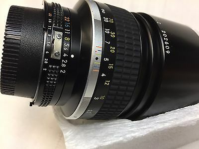Nikon Nikkor Zoom f/2 Lens 135mm Vintage Photography Camera Equipment with Box
