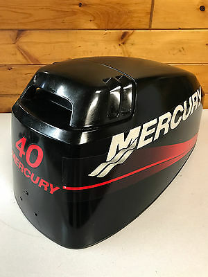 2000 Mercury 40 50 Hp 2 Stroke Outboard Engine Hood Top Cowl Cover Freshwater MN