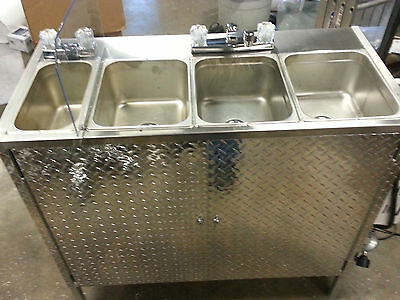 Portable Self Contained 4 Compartment Sink ,  Food Truck Or Trailer