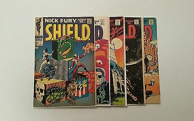 Nick Fury, Agent of SHIELD #1 (Jun 1968, Marvel), 3, 5, 7, 6, Silver Age lot • $67.67