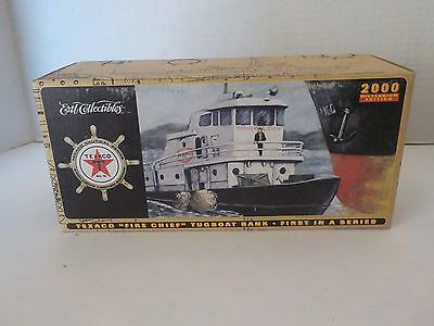 """Texaco """"Fire Chief"""" TugBoat Bank 2000 First in a Series by ERTL New MISB"""