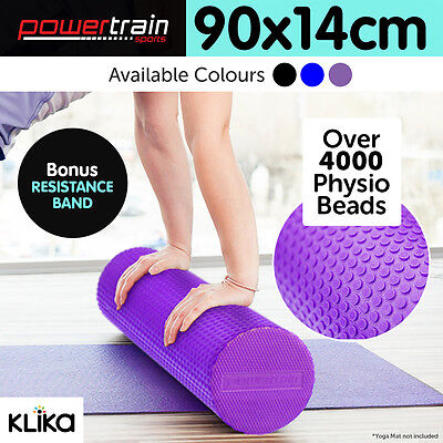 Eva Physio Foam AB Roller Yoga Pilates Exercise Back Home Gym Massage - 90x15cm