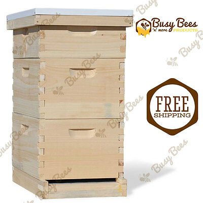 Langstroth Bee Hive 8 Frame 2 Deep 1 Medium (*NO Frames or Foundations*)