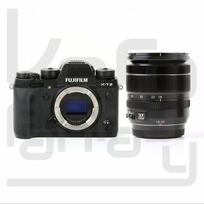 UK Fujifilm X-T2 Mirrorless Digital Camera Black + 18-55mm f/2.8-4 R OIS Lens