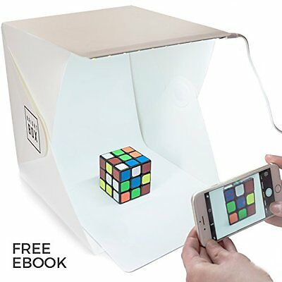 BrightBox Portable Mini Photo Studio With LED Light - The Best Small Folding Pro