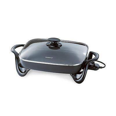 Presto 06852 16-Inch Electric Skillet with Glass Cover 1 New