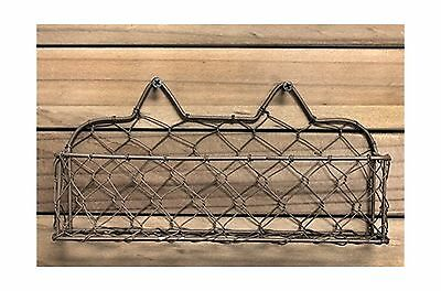 Bottle Cap Wide Wire Basket with Screws 9-Inch New