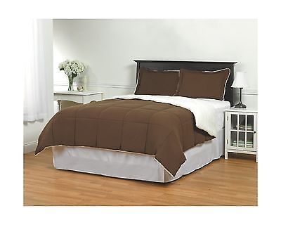 Sherpa Comforter Set by ExceptionalSheets Twin Brown New