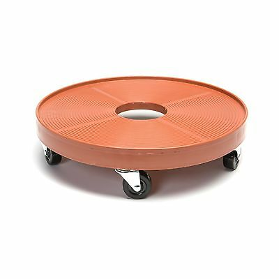 """Devault DEV3000P 16"""" Plant Dolly with Hole Terra Cotta New"""