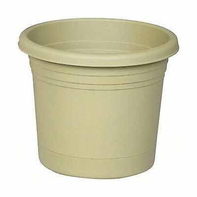 """Rolled Rim Planter with Saucer 8 Inches Olive Green 8"""" New"""