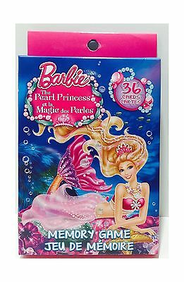Barbie The Pearl Princess Memory Game 36 Cards New