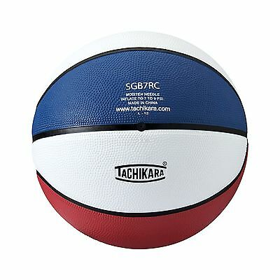 Tachikara SGB-6RC Rubber Basketball Intermediate Size Scarlet/White/Navy New