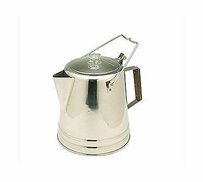 Texsport Stainless Steel 28 Cup Percolator New