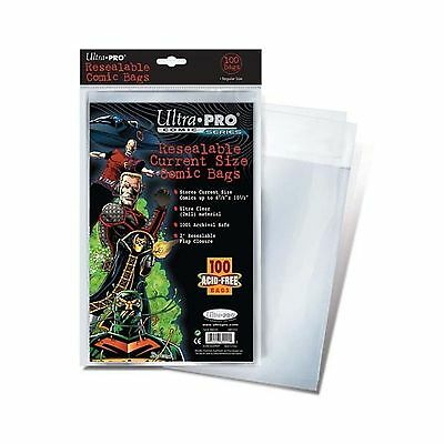 Ultra Pro Resealable Current Size Comic Bags (Pack of 100) New