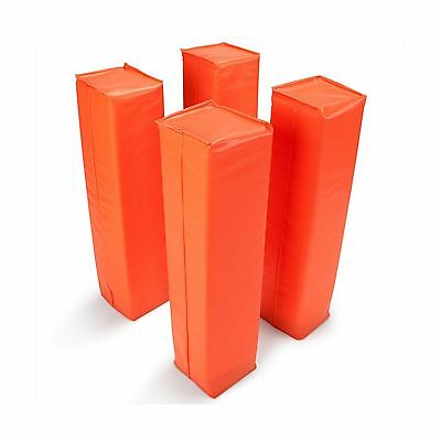 Crown Sporting Goods Anchorless Weighted Football Pylons (Set of 4) Orange New