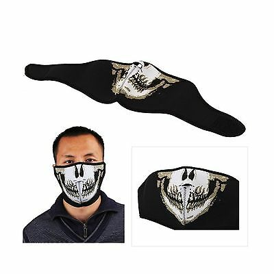 Polartec Biker Motorcycle Snowboard Skull Goth Half Face Mask Facemask New
