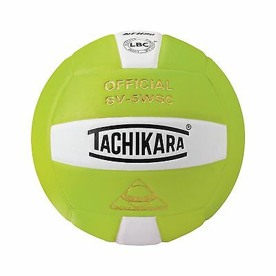 Tachikara Sensi-Tec Composite Volleyball Lime Green/White New