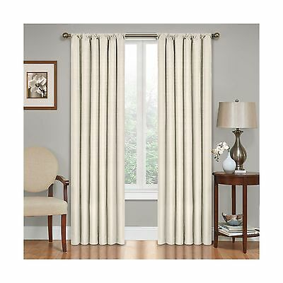 Eclipse Kendall Blackout Thermal Curtain PanelIvory84-Inch Ivory 42 x 84 New