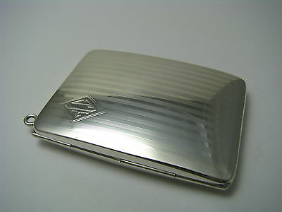 STERLING SILVER CASE CALLING CARD CASE FOB PHOTO FRAME by James E.Blake Co.1930s