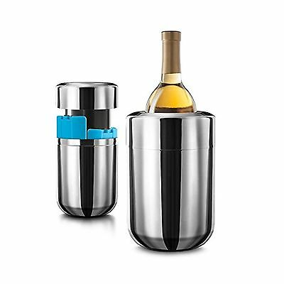 Final Touch Stainless Steel Wine Chiller with Removable Freezer Packs by ... New