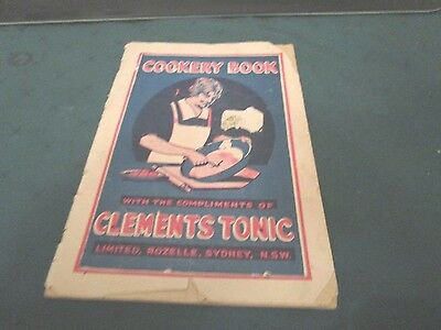 VINTAGE. COOKERY BOOK with the COMPLIMENTS OF CLEMENTS TONIC. AUSTRALIA. 1930s
