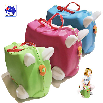 Kids Travel Hand Luggage Package Case Carry Ride on Suitcase Toy Box HQLU577