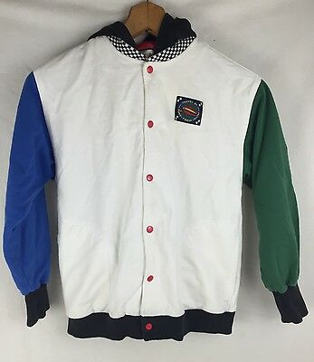 GYMBOREE VINTAGE childs XX large HOODIE SWEATSHIRT zipper white/green/red