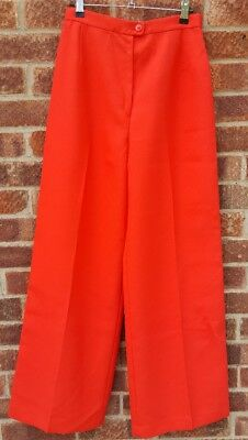 "Vintage 70s high waist red bellbottom flares trousers W 27"" L 32"""
