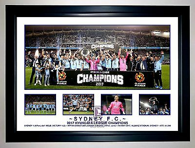 Sydney Fc 2016/17 A League Champions Tribute Photo Collage Soccer Print / Framed