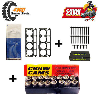 LS3, L98 Head Gaskets and Bolts (2 length) + Hydraulic Roller Lifters Kit