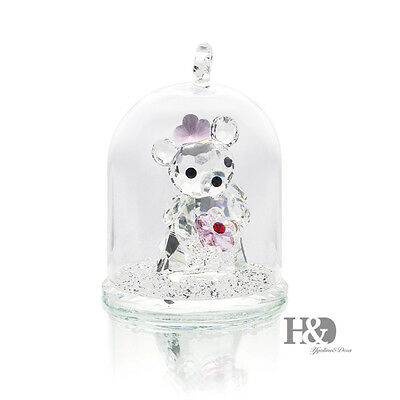 New Clear Crystal Little Bear Figurine Hanging Deco Xmas Wedding Gift Ornaments