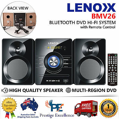 Mini Hi Fi Stereo System Bluetooth Speakers DVD Player CD MP3 USB Input FM Radio