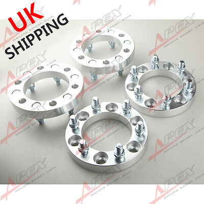 4PC 25mm | 6x139.7  Wheel Spacers 25mm Adapters Fits Chevy GMC Trucks Forged UK