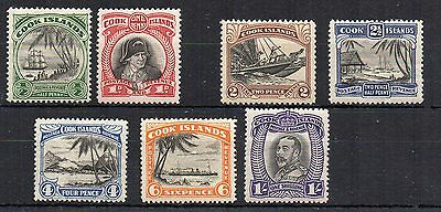 Cook Islands 1932 set to 1s MH