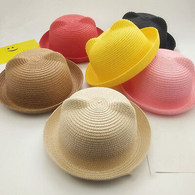 Baby Girls Kids Boys Children Cap Summer Beach Sun Straw Hat Headwear Holiday
