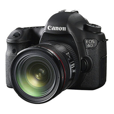 NEW Canon EOS 6D 20.2MP DSLR Camera + EF 24-70mm f/4L IS USM Lens BLACK