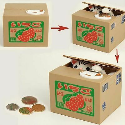 Chatora Funny Mischief Cat Bank Panda Automated Steal Coin Savings Box