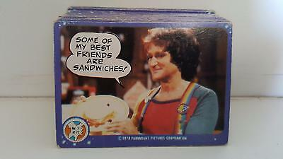 1978 Australian Scanlens release Mork & Mindy trading card base set of 72 cards