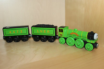 Thomas The Tank Engine Wooden Railway Flying Scotsman with Tenders Very Rare