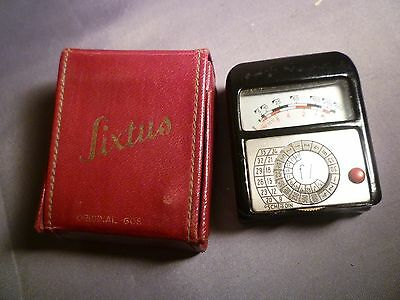 Vintage Gossen Lixtus Light Meter Case + Faulty ? Meter