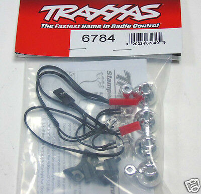 6784 Traxxas RC Car Parts LED Light Bar Chrome 4 Clear lights Stampede Telluride