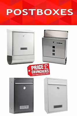 Secure Lockable Apartment Flat Postbox Letterbox Mailbox Newsletter Stainless St