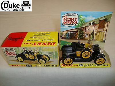 DINKY 109 THE SECRET SERVICE GABRIEL MODEL T FORD - VERY GOOD in original BOX