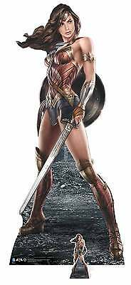 Wonder Woman Holding Shield and Sword Lifesize Cardboard Cutout Justice League