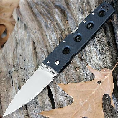 CS11HCLS Cold Steel Hold Out II CTS XHP Serrated Blade G-10 Handle Tri-Ad Lock