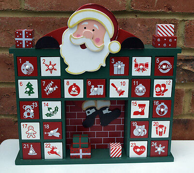 Advent Calendar Drawers Self Fill Father Christmas Decoration Red Santa New